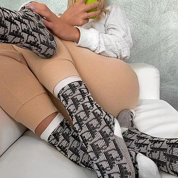 Dior Letter Knitted Socks