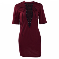 Deep Vee T-shirt Dress