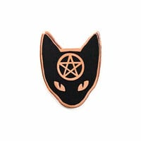 Cat Coven Pin - Copper