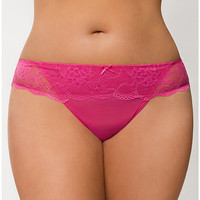 Plus Size Lace Waist Thong Panty by Cacique | Lane Bryant