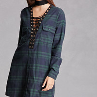 Plaid Flannel Strappy Dress