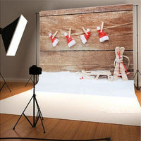3 x 5ft Christmas Studio Photography Background Hat Cap Photo Stereo Backdrops [8270420161]
