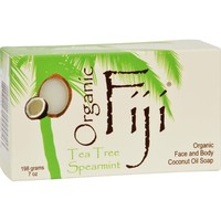 Organic Fiji Organic Face and Body Coconut Oil Soap Tea Tree Spearmint - 7 oz