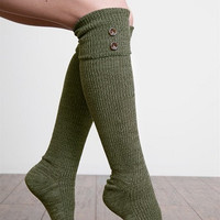 WB Tall Heathered Button Sock Asst