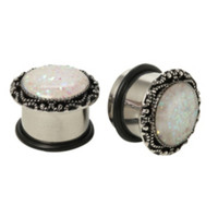 Steel Opal Saddle Plug 2 Pack