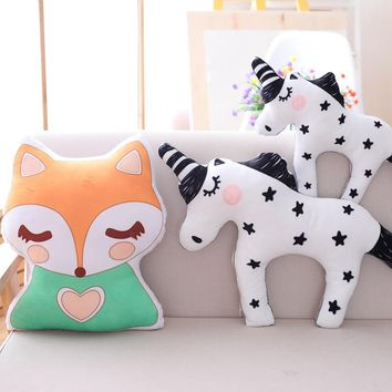 Super cute plush Toy Fox Unicorn animal pillow children room furniture decoration as a Christmas gift for children/40cm