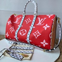 LV Louis Vuitton MONOGRAM CANVAS KEEPALL 50 HANDBAG SHOULDER BAG TRAVEL BAG