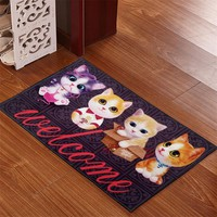 Autumn Fall welcome door mat doormat Bathroom Carpet For Toilet Cartoon Rug For Kitchen Floor Carpet For Room Large Bathroom Rugs Anti-slip s For Kids Room AT_76_7