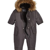 S Rothschild & CO S. Rothschild Baby Boys or Girls Hooded Footed Pram With Faux-Fur Trim Kids - Coats & Jackets - Macy's
