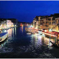 Venice Italy Grand Canal at Night Poster 11x17