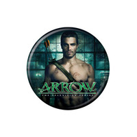 Arrow Oliver Queen Scarred Button
