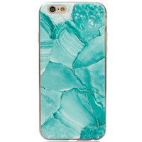 Mint Marble iPhone 7 7plus & iPhone se 5s & iPhone6 6s Plus Case Cover + Gift Box