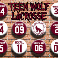 Ten 1.25 Inch Teen Wolf Jersey Buttons