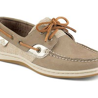 Sperry Top-Sider Women's Koifish Metallic Boat Shoes in Taupe STS95795: