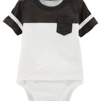 Double-Decker Colorblock Pocket Bodysuit