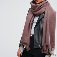 ASOS Supersoft Long Woven Scarf With Tassels at asos.com