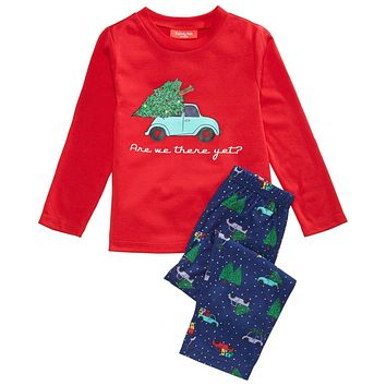 Family Pajamas Matching Are We There Yet Pajama Set Size 2-3 Toddler