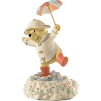 Disney's Pooh's Singing In The Rain Figurine By Lenox