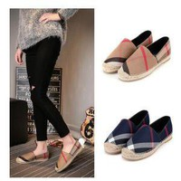 WOMEN DENIM FLAT SHOES ESPADRILLES FLAT CASUAL SHOES