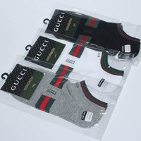 Gucci 3 pack ankle socks