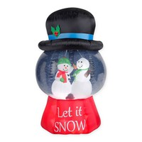Inflatable Outdoor 43-Inch Snow Globe with Hat-Snowman Scene