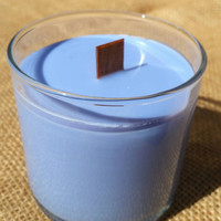 Lavender Soy Candle with Wood Wick - Ecofriendly Candle