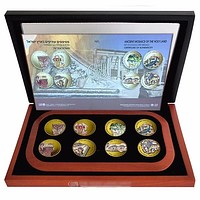 8 Medal Coin Collection - Ancient Mosaics Of The Holy Land
