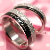 """""""god of love"""" Engagement lover Couples Rings, his and hers promise ring Stainless Steel"""