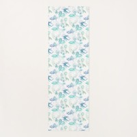 Alice in Wonderland Tea Blue Green Yoga Mat