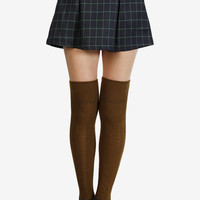 Check In Plaid Skirt