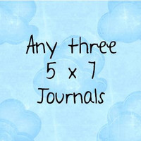 Any three 5 x 7 journals by JournalingJane on Etsy