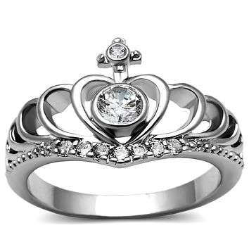 Mens Engagement Rings TK2870 Stainless Steel Ring with AAA Grade CZ