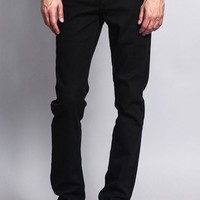 Men's Skinny Fit Colored Jeans (Black)