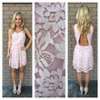 Pink Cupid Lace Open Back Dress