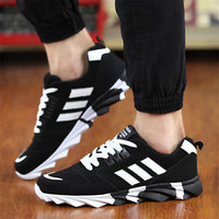 Women Men's Fashion Lace Up Sneakers Flats Breathable Sport Running Lovers Shoes