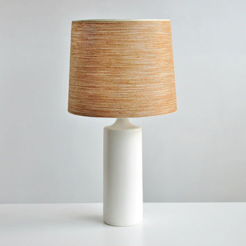 Mid Century Danish Modern Tall Lotte Bostlund Ceramic Lamp in White / Architectural Accent Light Fixture / Martz Lighting / BASE ONLY