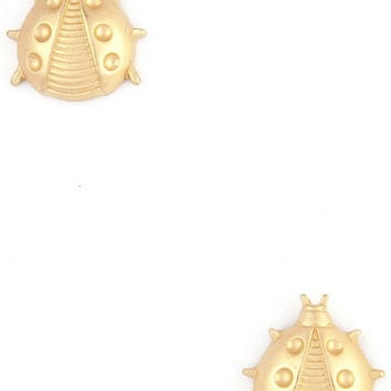 Lady Bug Studs in Gold