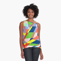'Organized cubic chaos' Contrast Tank by Bruce Stanfield