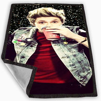 i love Niall Horan one direction black glitter Blanket for Kids Blanket, Fleece Blanket Cute and Awesome Blanket for your bedding, Blanket fleece *