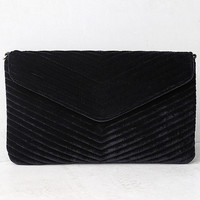 Keep it Poppin' Black Velvet Clutch