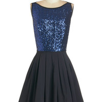 ModCloth Mid-length Sleeveless Fit & Flare Sparkle! Who Glows There? Dress
