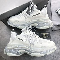 Balenciaga Shoes High Quality Contrast Crystal clear shoes Triple sole Shoes