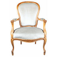 French Gray Parlor Chair