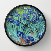 Famous art, Iris by Vincent van Gogh.   Wall Clock by ArtsCollection