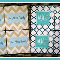 Coasters, Gift Ideas, Monogrammed Coasters, Teacher Gift, Graduation Gift, Personalized Drink Coasters, Monogrammed Gift, Personalized Gift