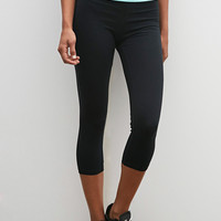 Colorblock Fold-Over Capri Leggings