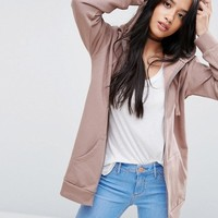 ASOS PETITE Ultimate Oversized Zip Through Hoodie at asos.com
