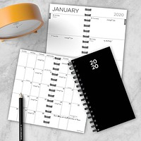Black Small Weekly/Monthly Planner