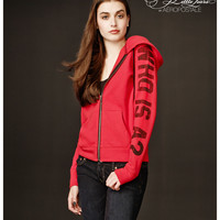 Aeropostale Pretty Little Liars Who Is A? Zip-Front Hoodie - Classic Red,