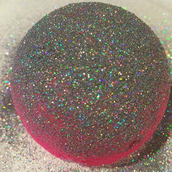 Glitter bomb... Turn your bath water into a pool of silky smooth glittery decadence... Great gift idea!  Glitter bath bomb; black bath bomb